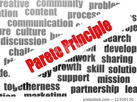 Pareto principle word cloud 12309130