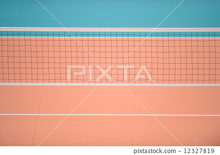 Stock Photo: net, volley ball, volley-ball