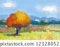 ต้นไม้,สดใส,จิตรกรรม 12328052
