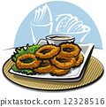 fried squid rings 12328516