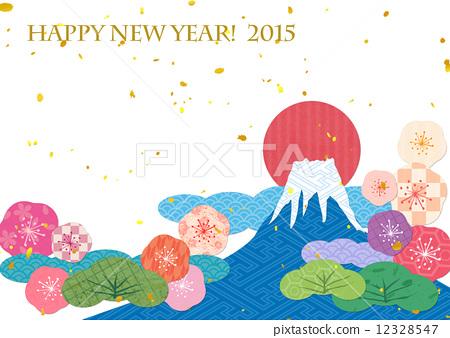 日本模式富士山日出 12328547