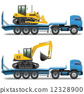 tractor, trailer, vector 12328900