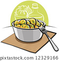 Potato salad with parsley and dill  12329166