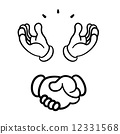 Various hand signs 12331568