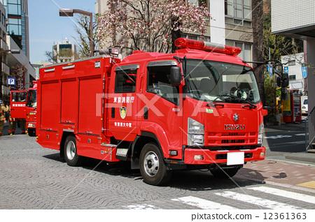 Stock Photo: firetruck, fire-engine, fire engine