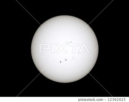 Sun and sunspot 12362025