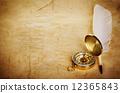เข็มทิศ,ปากกา,กระดาษ 12365843