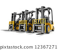 Forklift truck on white isolated background. 12367271