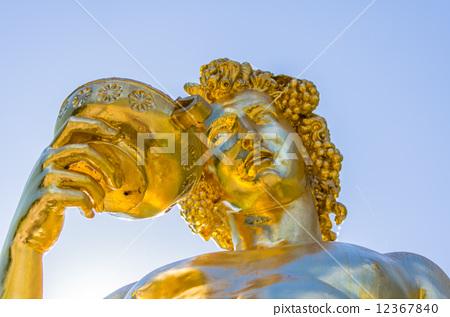 Gold statue in Peterhof 12367840