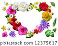 心臟的花Koji白色背景 12375617