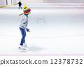 Little girl ice skating 12378732