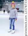 Little girl ice skating 12378733