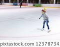 Little girl ice skating 12378734