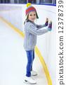 Little girl ice skating 12378739