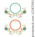 花香 标签 框架 12387091