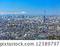 Fuji which the blue sky spreads and Tokyo sky tree 12389797