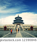 Temple of Heaven in Beijing, China, Qiniandian, Chinese symbol. 12390846