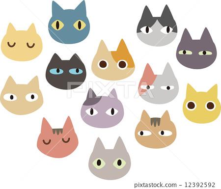 许多猫脸 12392592