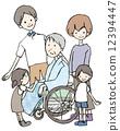 휠체어, 인물, 사람 12394447