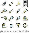 ไอคอน,เครื่องมือ,ชุด 12410379