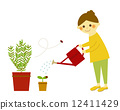 female, person, watering plants 12411429