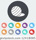 Fittball single icon. 12418085