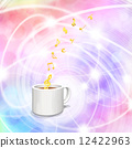 Melody rising from coffee and score 12422963