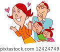 illustration, happy, pleased 12424749