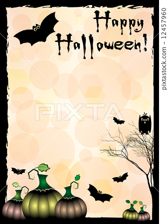 Festive illustration on theme of Halloween. Wishes for Happy Halloween. Trick or treat 12457960