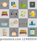 Hotel icons set 12460934