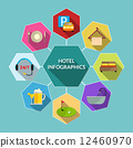 Hotel flat infographics 12460970