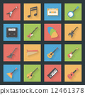 Musical Instruments flat icons set 12461378