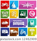 Transport flat icon, bright color-08 12462909