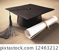 帽子 盖 毕业文凭 12463212