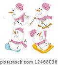 雪人 人物 矢量 12468036