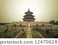 Temple of Heaven in Beijing, China, Qiniandian, Chinese symbol. 12470028