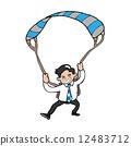 parachute, man, business 12483712