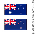 Flag of Australia and New Zealand 12491346