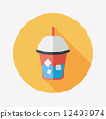 iced drink flat icon with long shadow,eps10 12493974