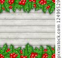 常青樹 邊界 漿果 12496529