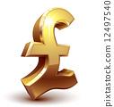 Pound symbol 12497540