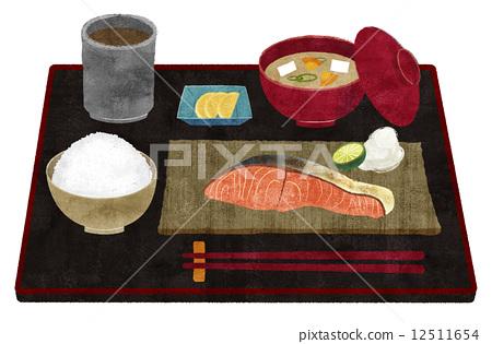 Salmon set meal 12511654