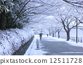 tree-lined, road, frost 12511728