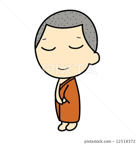 cute Buddhist Monk 12518372