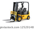 Forklift truck on white isolated background. 12520148