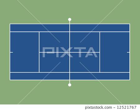 테니스 코트 12521767