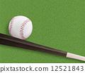 ลูกเบสบอล,ไม้เบสบอล,เบสบอล 12521843