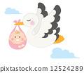 infant, baby, stork 12524289