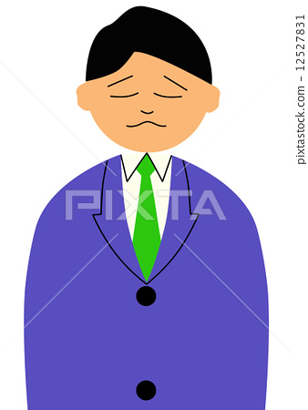 Illustration of a man with a sad expression 12527831