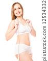 tape, slimming, woman 12534332